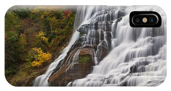 Ithaca Falls In Autumn IPhone Case