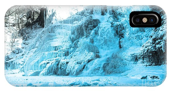 Ithaca Falls In Winter IPhone Case