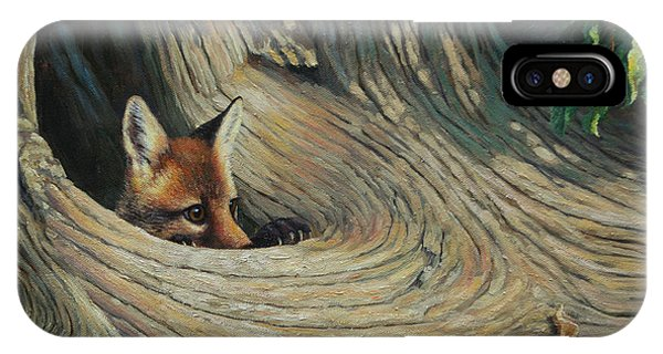 Pup iPhone Case - Fox - It's A Big World Out There by Crista Forest