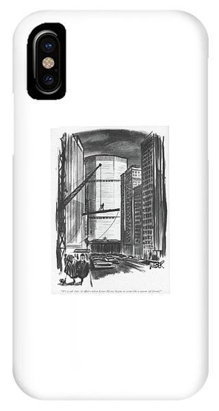 It's A Sad State Of Affairs When Lever House IPhone Case