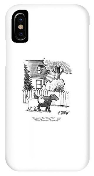 Walk iPhone Case - It's Always Sit by Peter Steiner