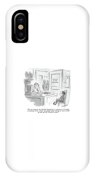 It's One Thing For The National Commission IPhone Case