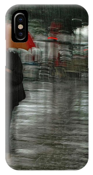 Street Light iPhone Case - It's Raining Cats And Dogs by Yvette Depaepe