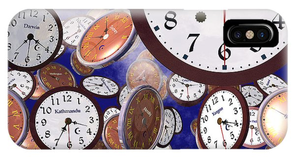 It's Raining Clocks - Los Angeles IPhone Case