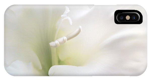 Stamen iPhone Case - Ivory Gladiola Flower by Jennie Marie Schell