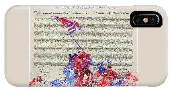 Iwo Jima Declaration Of Freedom IPhone Case
