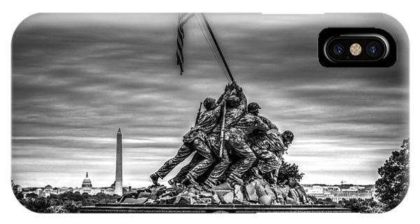 Iwo Jima Monument Black And White IPhone Case