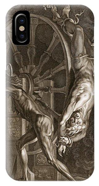 Centaur iPhone Case - Ixion In Tartarus On The Wheel, 1731 by Bernard Picart