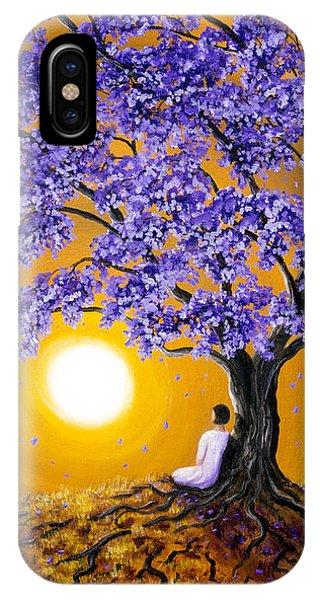 Jacaranda Sunset Meditation IPhone Case