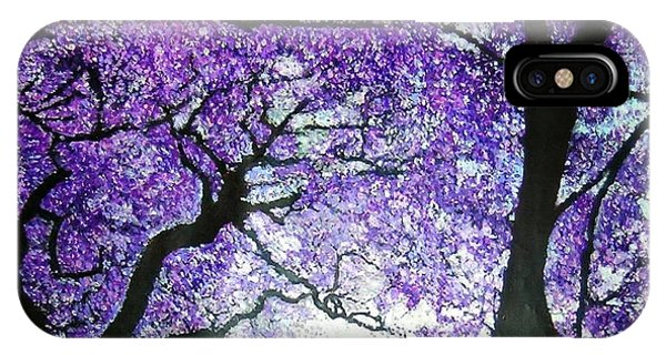 Jacarandas By The River IPhone Case