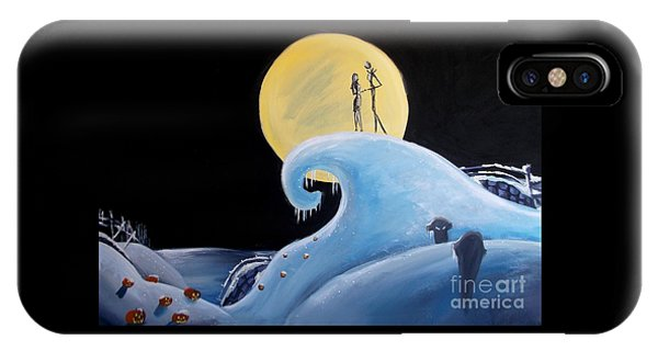 Jack And Sally Snowy Hill IPhone Case