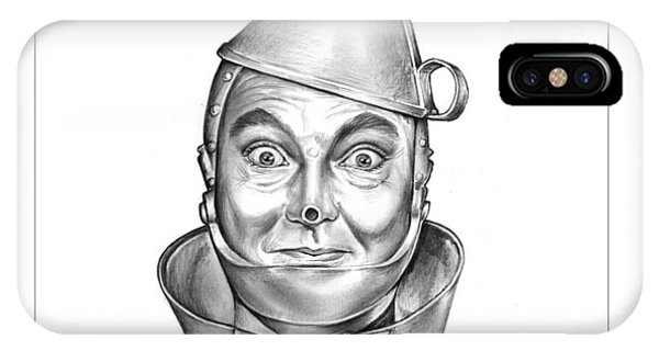 Wizard iPhone X / XS Case - Jack Haley As The Tin Man by Greg Joens