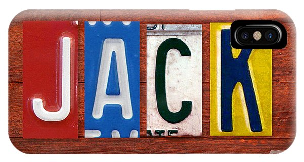 Jack License Plate Name Sign Fun Kid Room Decor IPhone Case