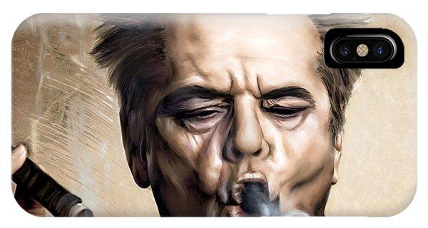 Celebrity iPhone Case - Jack Nicholson by Andrzej Szczerski