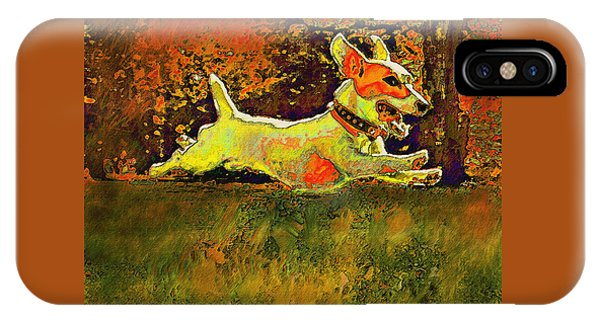 Jack Russell In Autumn IPhone Case