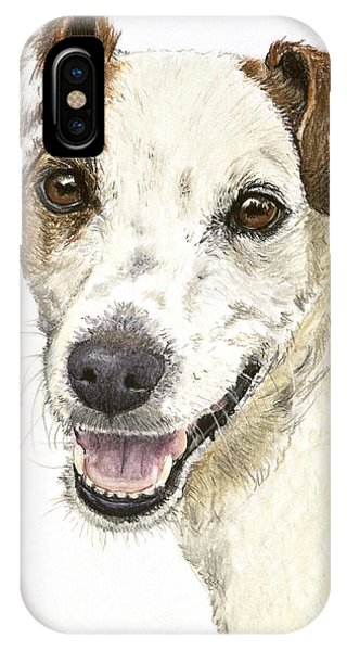 Jack Russell Terrier Portrait IPhone Case
