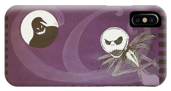 Jack Skellington With The Oggie Boogie Floor Cloth 2012 IPhone Case
