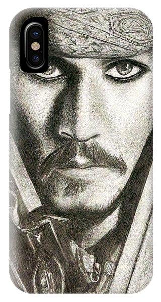 Orlando Bloom iPhone Case - Jack Sparrow by Michael Mestas