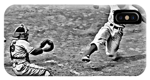 Jackie Robinson Stealing Home IPhone Case
