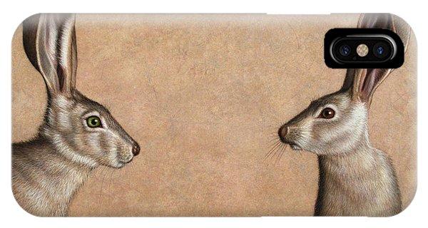 Rabbit iPhone Case - Jackrabbits by James W Johnson