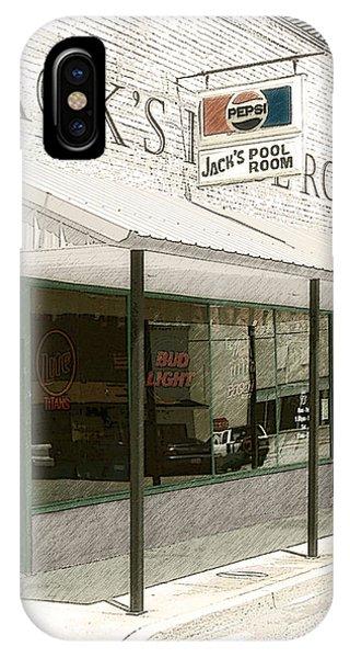 Jack's Pool Room IPhone Case