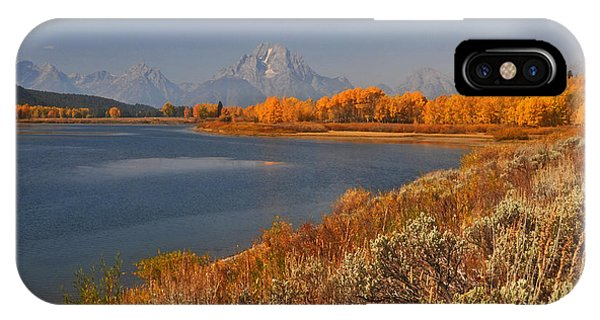 Jackson Lake Orange Shoreline In Autumn Grand Tetons National Park IPhone Case