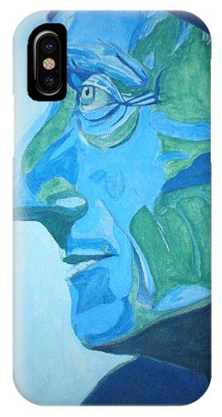 Jacques Cuso En Blue Phone Case by Steve Spagnola