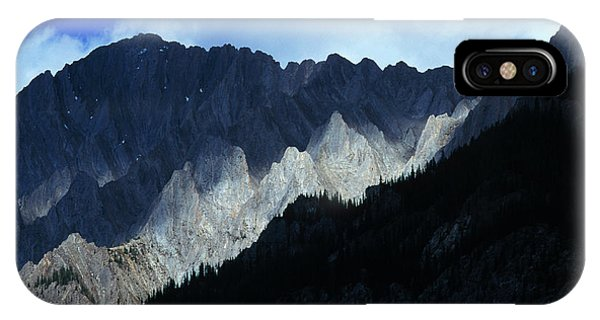 Solidity iPhone Case - Jagged Mountains Of Banff National by Todd Korol