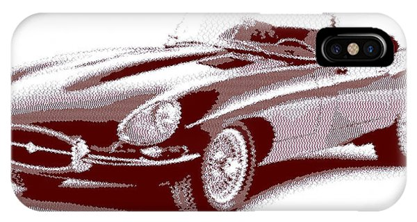 Jaguar E-type - Cross Hatching IPhone Case