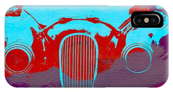 Classic Cars iPhone Case - Jaguar Front End by Naxart Studio