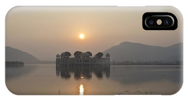 Jal Mahal In Sunrise IPhone Case
