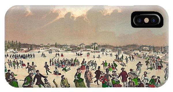 Roxbury iPhone Case - Jamaica Pond Massachusetts 1859 by Padre Art