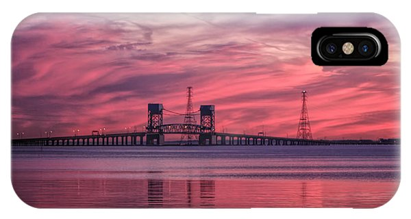 IPhone Case featuring the photograph James River Bridge At Sunset by Ola Allen
