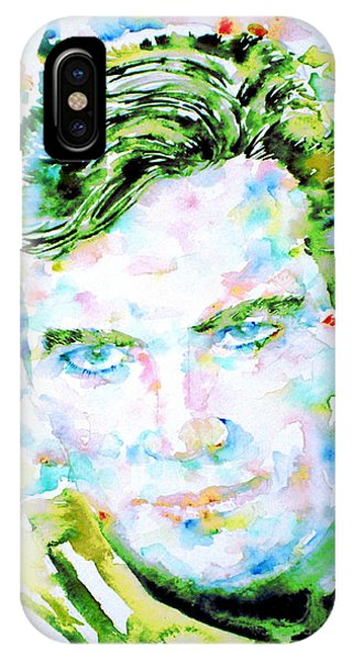 James T. Kirk - Watercolor Portrait IPhone Case