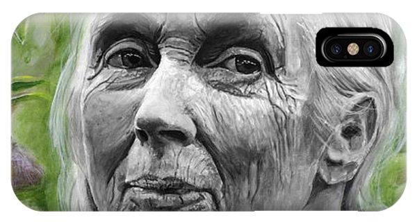 Chimpanzee iPhone Case - Jane Goodall by Simon Kregar