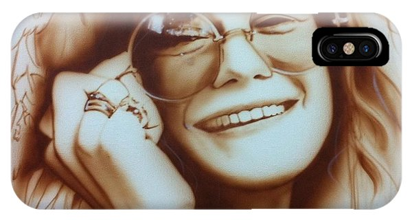 Rock And Roll Art iPhone Case - Janis by Christian Chapman Art