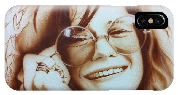 Celebrities iPhone Case - Janis by Christian Chapman Art