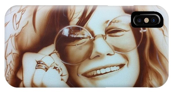 Neon iPhone Case - Janis by Christian Chapman Art