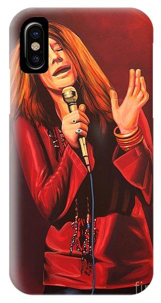 Popstar iPhone Case - Janis Joplin Painting by Paul Meijering