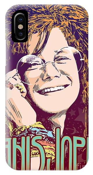 Celebration iPhone Case - Janis Joplin Pop Art by Jim Zahniser
