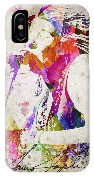 Harp iPhone Case - Janis Joplin Portrait by Aged Pixel