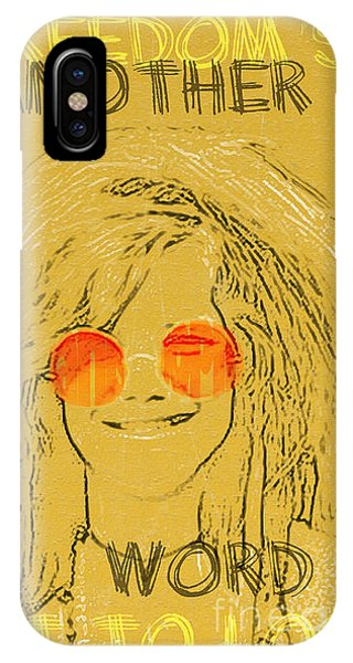 Janis Joplin Song Lyrics Bobby Mcgee IPhone Case