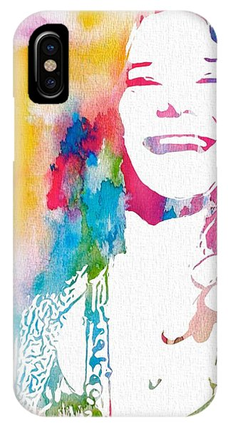 Tribute iPhone Case - Janis Joplin Watercolor by Dan Sproul