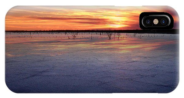 January Sunset At El Dorado Lake IPhone Case