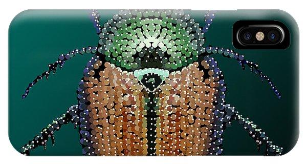 Japanese Beetle Bedazzled II IPhone Case