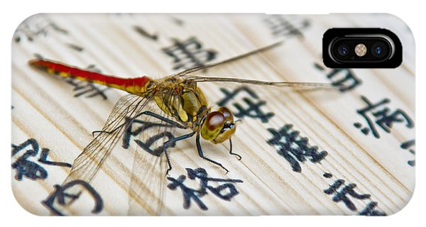 Japanese Dragonfly IPhone Case