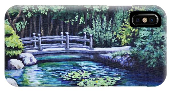 Japanese Garden Bridge San Francisco California IPhone Case