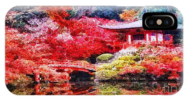 Mo iPhone Case - Japanese Garden by Mo T
