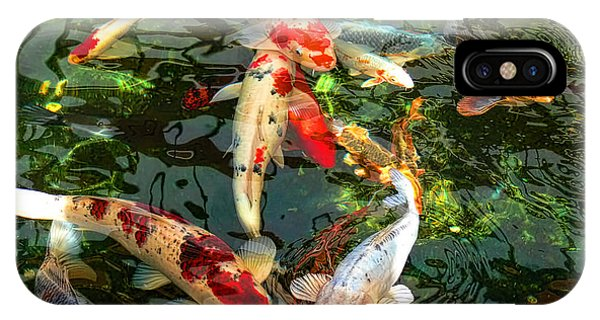 Calm iPhone Case - Japanese Koi Fish Pond by Jennie Marie Schell