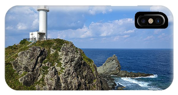 Japanese Lighthouse At Uganzaki IPhone Case